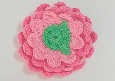 Flor crochet 3€