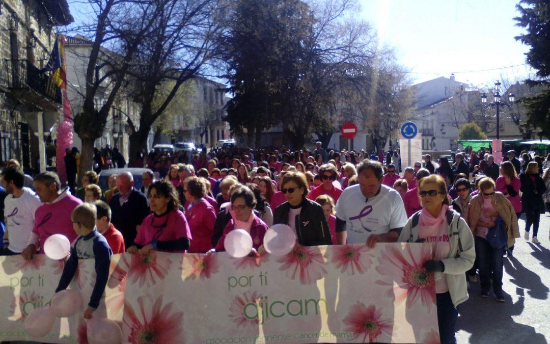 I Marcha contra el cáncer de mama en el municipio de Noalejo