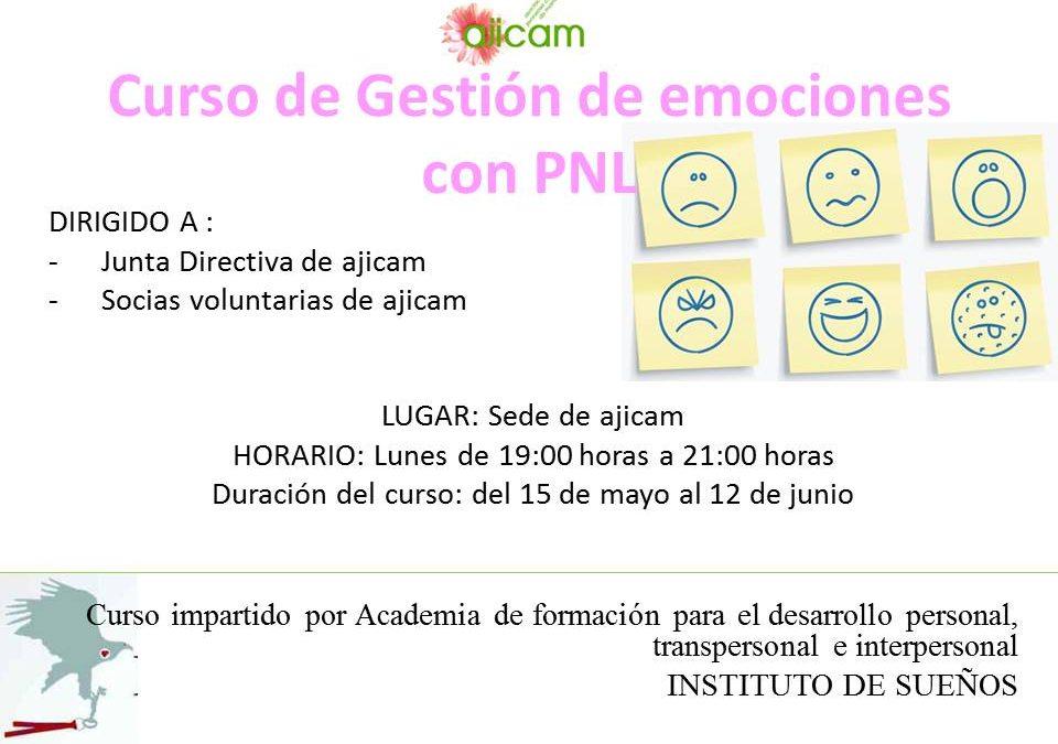 Primera sesión del curso de Gestión de emociones con PNL.