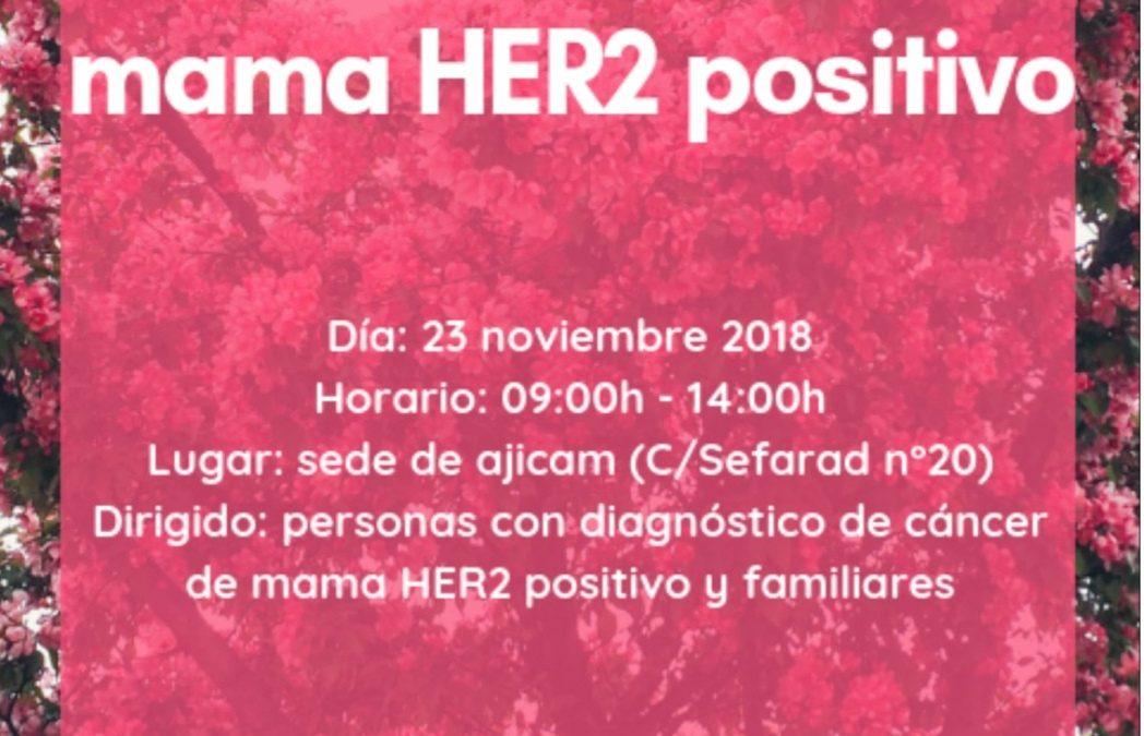 Taller de cáncer de mama HER2 positivo