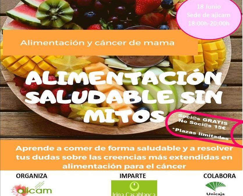 Taller alimentación en cáncer de mama. Alimentación saludable sin mitos