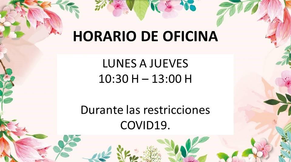 HORARIO RESTRICCIONES COVID19